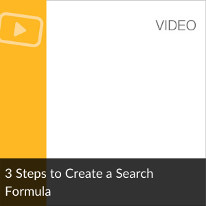 Video: 3 Steps to Create A Search Formula