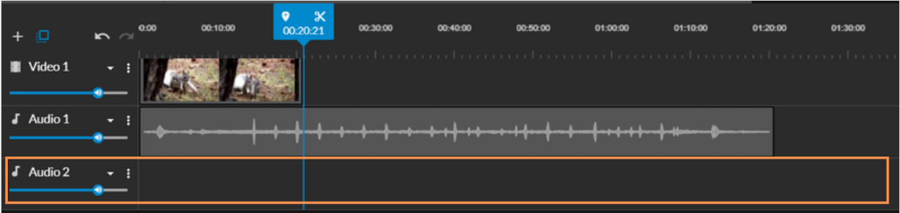 New audio track in the timeline