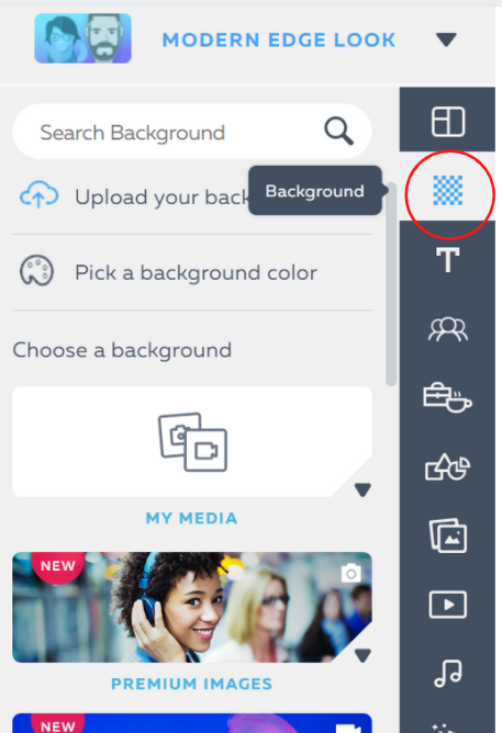 select background option