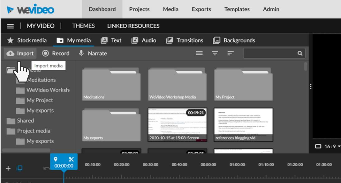 select import media