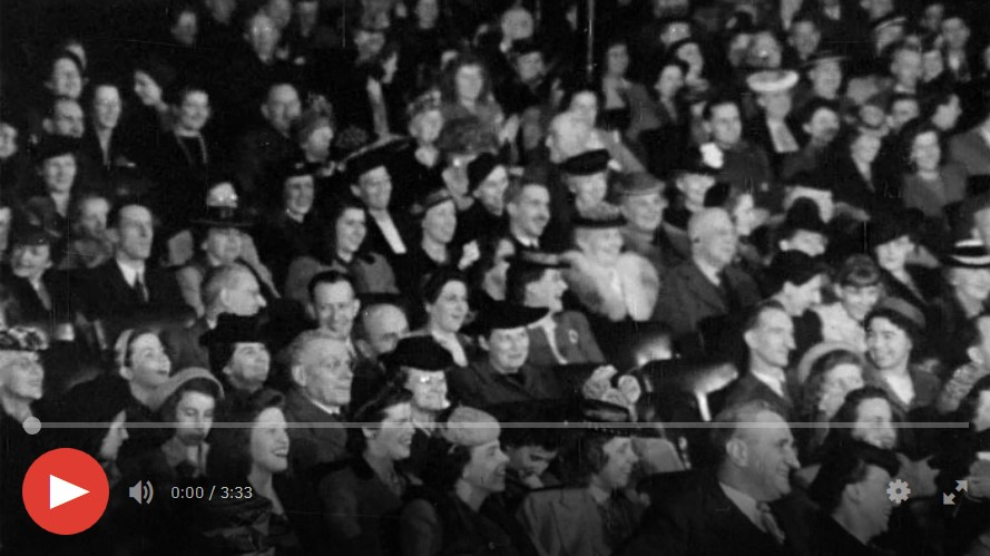 Crowd in a theatre
