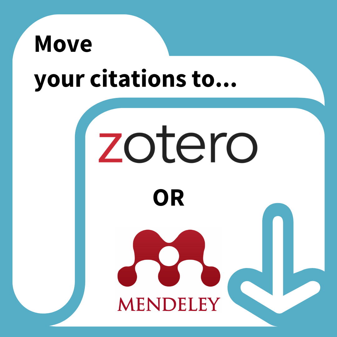 Move citations from Refworks to Zotero or Mendeley