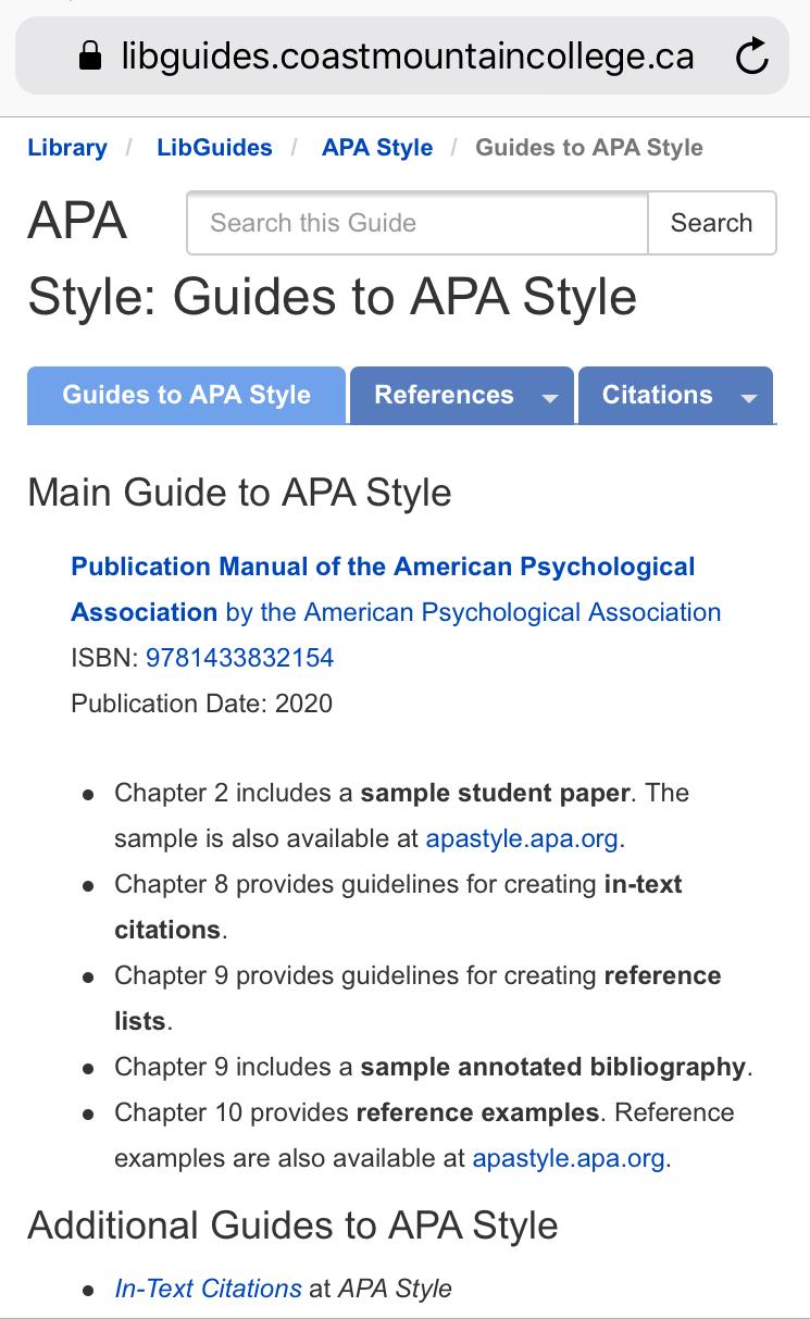 APA Citation Style Guide