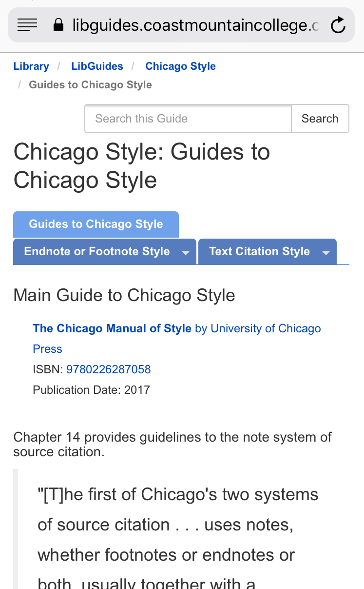 Chicago Citation Style Guide