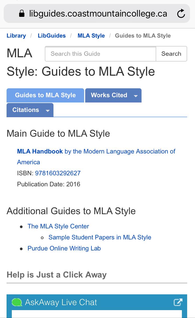 MLA Citation Style Guide