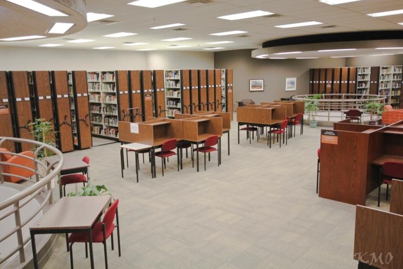 Second floor study carrells