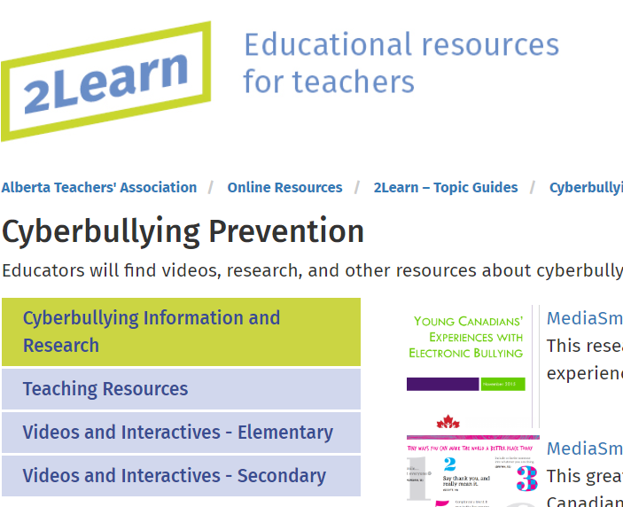 Link to Cyberbullying Guide