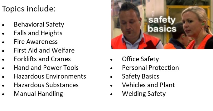 links to NBCC safetyCare videos