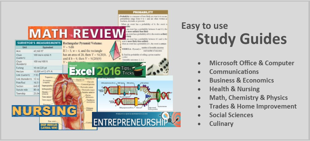 Easy to use study guides