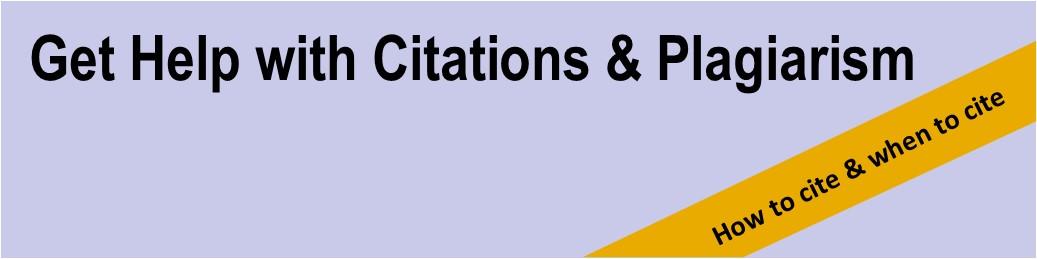get citation and plagiarism help