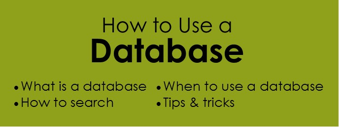 how to use a database guide