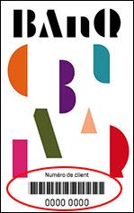 carte d'abonné banq recto
