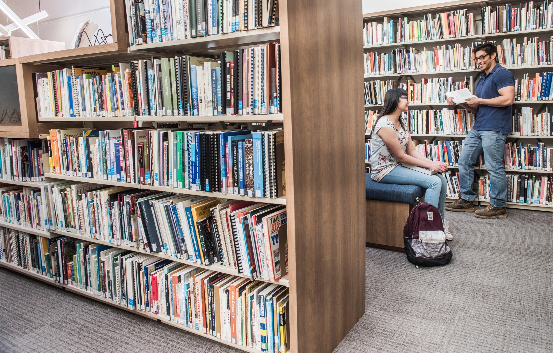 Bookshelves at the Innovation Commons