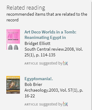 screenshot of related reading