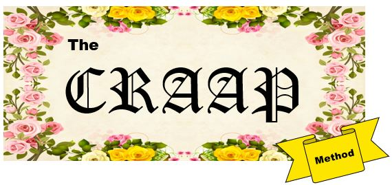 """floral background with """"the craap method"""" in text over top"""